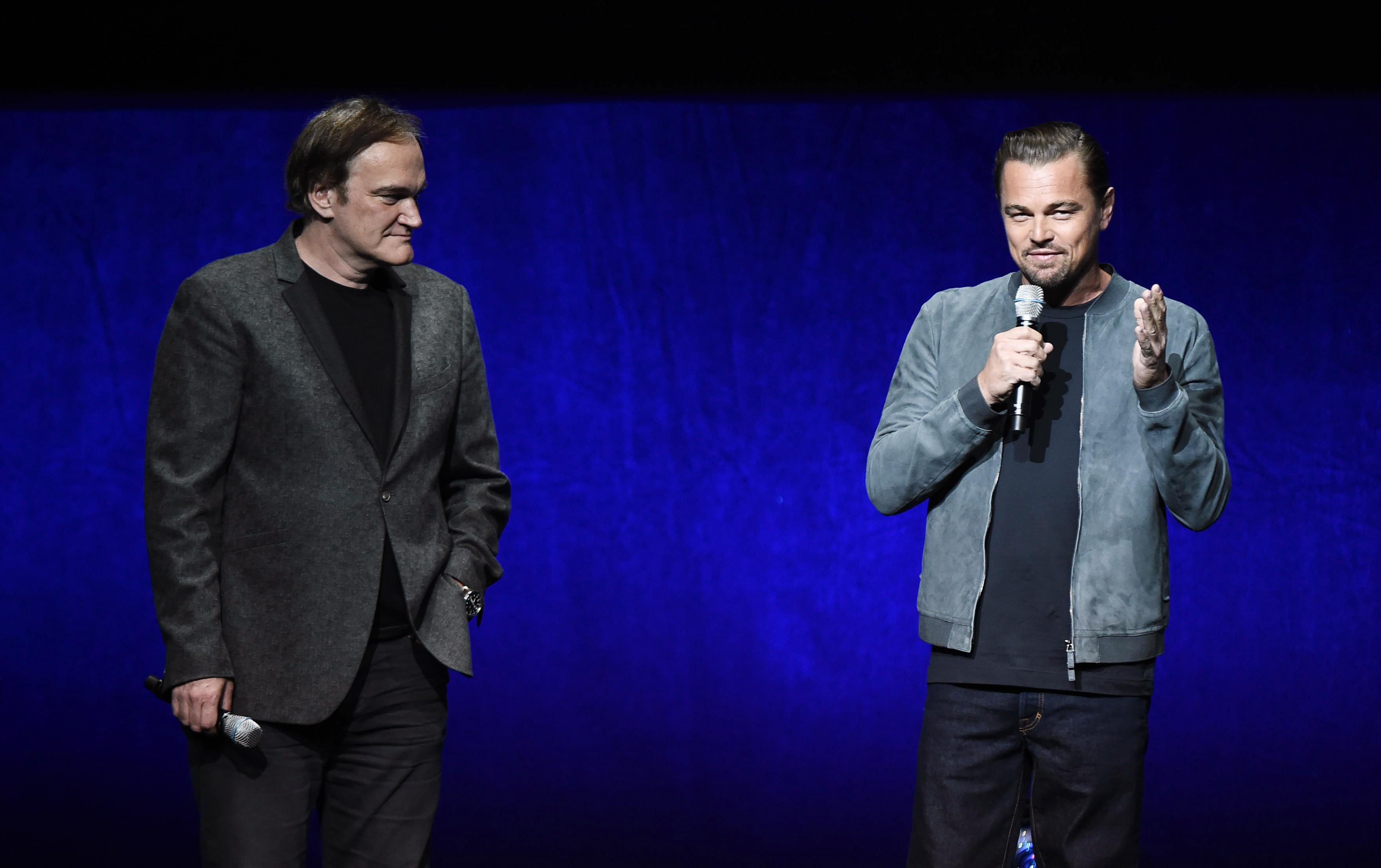 Đạo diễn tài ba Quentin Tarantino và tài tử Leonardo DiCapriot trong buổi họp báo về bộ phim Once Upon A Time In Hollywood