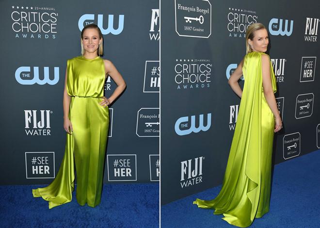 Kristen Bell mặc trang phục do Công Trí thiết kế nhận giải thưởng #SeeHer - ảnh 1